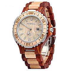 preiswerte Tolle Angebote auf Uhren-Paar Armbanduhr Kalender Holz Band Luxus / Modisch / Holz Rot / Zwei jahr / Sony SR626SW