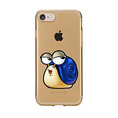Недорогие Кейсы для iPhone 7 Plus-Кейс для Назначение Apple Кейс для iPhone 5 iPhone 6 iPhone 7 Прозрачный С узором Кейс на заднюю панель Мультипликация Мягкий ТПУ для