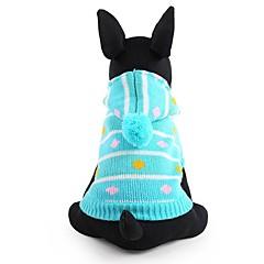 Psy Swetry Ubrania dla psów Zima Çizgi Urocze Modny Zatrzymujący ciepło Niebieski Różowy