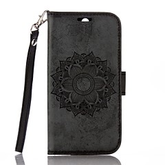 for Motorola Moto G4 G4 Plus Full Body Mandala Embossed Leather Wallet