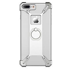 Для Чехлы панели Защита от удара Кольца-держатели Задняя крышка Кейс для Один цвет Твердый Металл для AppleiPhone 7 Plus iPhone 7 iPhone
