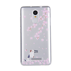 Voor xiaomi redmi note 3 case cover kat patroon back cover soft tpu