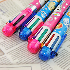 preiswerte Zubehör zum Zeichnen und Schreiben-Kugelschreiber Stift Kugelschreiber Stift, Kunststoff Rot Schwarz Blau Gelb Purpur Grün Tintenfarben For Schulzubehör Bürobedarf Packung