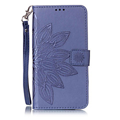 tok Για Samsung Galaxy S7 edge S7 Θήκη καρτών Πορτοφόλι με βάση στήριξης Ανοιγόμενη Ανάγλυφη Με σχέδια Πλήρης κάλυψη Λουλούδι Σκληρή PU