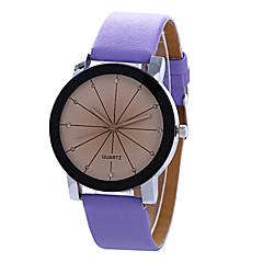tanie Zegarki dla par-Dla par Modny Zegarek na nadgarstek Kwarcowy / PU Pasmo Vintage Na co dzień Nowoczesne Czarny Biały Niebieski Purpurowy