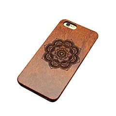 Для Кейс для iPhone 6 Кейс для iPhone 6 Plus Чехлы панели Рельефный С узором Задняя крышка Кейс для Цветы Твердый Дерево дляiPhone 6s