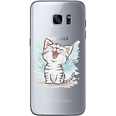 Voor Ultradun Transparant Patroon hoesje Achterkantje hoesje Kat Zacht TPU voor Samsung S7 edge S7 S6 edge plus S6 edge S6