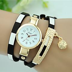 Dames Armbandhorloge Modieus horloge Kwarts Leer Band Zwart Blauw Rood Roze Marineblauw