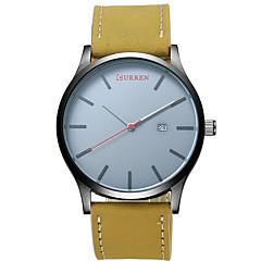 preiswerte Tolle Angebote auf Uhren-CURREN Herrn Armbanduhr Wasserdicht Leder Band Freizeit / Modisch Schwarz / Braun