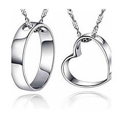 Муж. Жен. Ожерелья с подвесками Стерлинговое серебро Базовый дизайн Любовь Бижутерия Назначение Повседневные