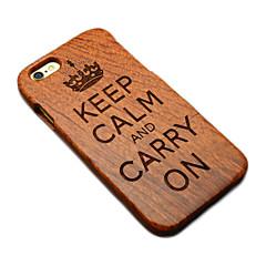 Недорогие Кейсы для iPhone 5-Для Кейс для iPhone 5 Чехлы панели Рельефный Задняя крышка Кейс для Слова / выражения Твердый Дерево для iPhone SE/5s iPhone 5