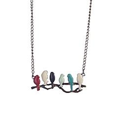 abordables Collares-Mujer Joyas Collares Declaración - Plata de ley Rojo