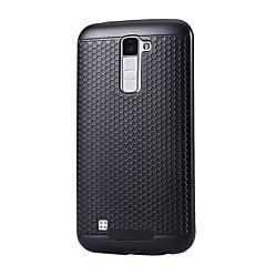 Недорогие Чехлы и кейсы для LG-Кейс для Назначение LG K8 / LG / LG G5 Защита от пыли Кейс на заднюю панель Однотонный Твердый ПК для LG X Power / LG V20 / LG K10