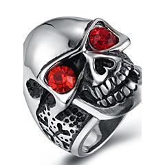 Férfi Vallomás gyűrűk Gyűrű Kocka cirkónia Divat Cirkonium Titanium Acél Ékszerek Kompatibilitás Halloween Napi Hétköznapi