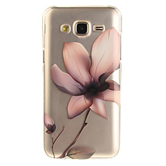 For IMD Transparent Mønster Etui Bagcover Etui Blomst Blødt TPU for Samsung J5 (2016) J5 J3 J3 (2016) Grand Prime