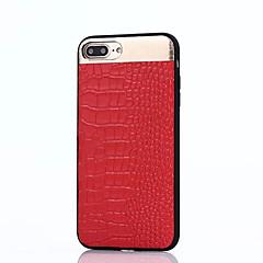 Недорогие Кейсы для iPhone 7-Кейс для Назначение iPhone 7 Plus IPhone 7 Apple iPhone 7 Plus iPhone 7 Other Кейс на заднюю панель Сплошной цвет Мягкий Настоящая кожа