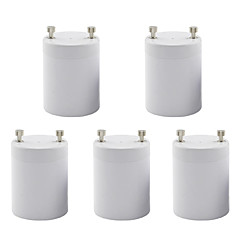 GU24 to E27 Screw Base for Halogen LED Light Lamp Adapter Converter 85-265V (5 Pieces)