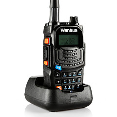 wanhua uv6s φορητό ραδιόφωνο vhf 136-174mhz uhf 400-520mhz 128χ 5w δύο δρόμων ραδιόφωνο