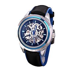 preiswerte Tolle Angebote auf Uhren-Herrn Modeuhr Mechanische Uhr Schwarz / Silber / Analog Luxus Freizeit - Silber Rot Blau