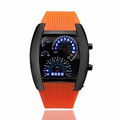 お買い得  メンズ腕時計-男性用 リストウォッチ デジタル カレンダー クリエイティブ ラバー バンド デジタル ブラック - ダークブルー Brown ライトブルー 2年 電池寿命 / パナソニックCR2032