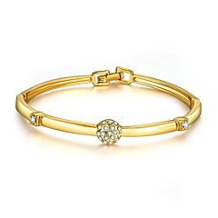 Bracelet Bangles Zircon Copper Gold Plated Rose Gold Plated Irregular Friendship Fashion Vintage Bohemia Punk Hip-HopParty Special