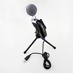 voordelige -2017 nieuwe usb nuttig hot bekabelde hoge kwaliteit stereo condensator microfoon met houder clip om te chatten karaoke draagbare pc