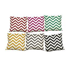 tanie Poduszki-6 szt Bielizna Naturalne / ekologiczne Pokrywa Pillow Poszewka na poduszkę,Stały Nowość TexturedTradycyjny Retro Tradycyjny / Classic