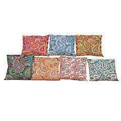 """set van 7 Europese stijl retro bloemen linnen kussensloop huis kantoor decoratieve kussens (18 """"* 18"""")"""