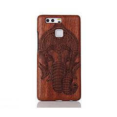 Para Antigolpes En Relieve Diseños Funda Cubierta Trasera Funda Animal Dura Madera para Huawei Huawei P9 Huawei P9 Lite