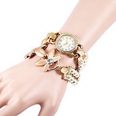preiswerte Tolle Angebote auf Uhren-Damen Modeuhr / Armband-Uhr / Simulierter Diamant Uhr Japanisch Imitation Diamant Plastic Band Perlen / Elegant Weiß / Khaki / Ein Jahr