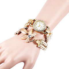 billige Dameure-Dame Simuleret Diamant Ur Armbåndsur Modeur Quartz Imiteret Diamant Plastik Bånd Perler Elegant Hvid Kaki