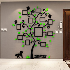 植物の ウォールステッカー 3D ウォールステッカー 飾りウォールステッカー,ビニール 材料 ホームデコレーション ウォールステッカー・壁用シール