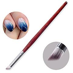 אמנות 1pc מסמר פוטותרפיה ללק מדביקים את שפוע DIY עט Chuo Chuo עט הצללה שיפוע בר המהגוני מברשת