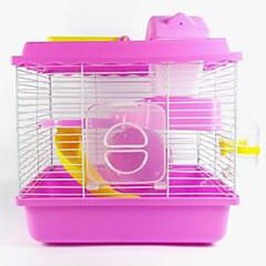Недорогие Аксессуары для мелких животных-Грызуны хомяк пластик Клетки Кофейный Синий Розовый