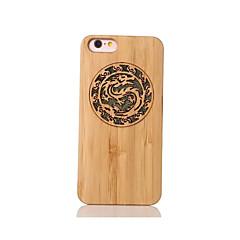 Для Защита от удара Рельефный С узором Кейс для Задняя крышка Кейс для Животный принт Твердый Бамбук для Apple iPhone 6s/6