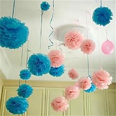 Χαμηλού Κόστους -10pcs 25 εκατοστά * 25 εκατοστά φτηνές μπάλες λουλούδι χαρτί για το σπίτι του γάμου χειροτεχνία διακόσμηση κόμμα αυτοκίνητο
