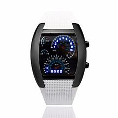 お買い得  メンズ腕時計-男性用 リストウォッチ デジタル ブラック カレンダー クリエイティブ デジタル ダークブルー Brown ライトブルー 2年 電池寿命 / パナソニックCR2032