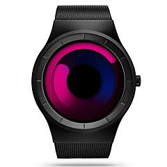 お買い得  大特価腕時計-SINOBI 男性用 スポーツウォッチ / リストウォッチ 耐水 / 耐衝撃性 ステンレス バンド ぜいたく / カジュアル / ユニーククリエイティブウォッチ ブラック / 2年 / Sony SR626SW