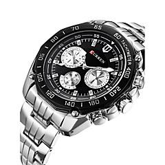 お買い得  メンズ腕時計-男性用 スポーツウォッチ リストウォッチ クォーツ 30 m カレンダー デザイナー スイスの 合金 バンド ハンズ チャーム カジュアル ファッション 多色 - ホワイト ブラック / ステンレス