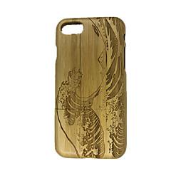 Для Рельефный Кейс для Задняя крышка Кейс для Полосы / волосы Твердый Дерево для Apple iPhone 7