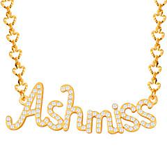 Муж. Женский Ожерелья с подвесками Кристалл Стразы Имитация Алмазный Алфавит Стразы Позолота Мода Духовное развитие Первоначальные