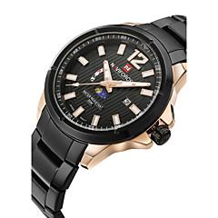 preiswerte Tolle Angebote auf Uhren-NAVIFORCE Herrn Armbanduhr Kalender / Wasserdicht / Mond Phase Edelstahl Band Modisch Schwarz / Silber / Zwei jahr / Maxell SR626SW