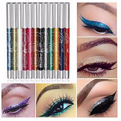 お買い得  アイシャドウのペン-12色は、プロのアイシャドウリップライナー眉毛グリッターアイシャドウアイライナーペンシルペン化粧品メイクアップセットキットツールを作ります