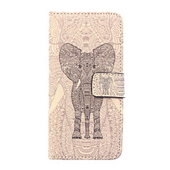 Для Кейс для iPhone 6 / Кейс для iPhone 6 Plus Кошелек / Бумажник для карт / со стендом / Флип / С узором Кейс для Чехол Кейс для Слон