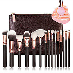 15 Brush Sets Blushkwast Oogschaduwkwast Lippenkwast Wenkbrauwkwast Eyelinerkwast Concealerkwast Poederkwast Foundationkwast Contour Brush