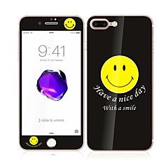для Apple Iphone 7 4.7 закаленное стекло с передним мягким краем покрытия экрана полный и задний экран протектор улыбка шаблон