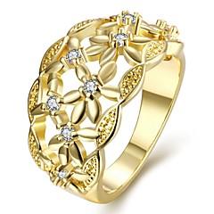Ringen Feest Dagelijks Causaal Sieraden Zirkonia Koper Verguld Roos verguld Ring 1 stuks,7 8 Goud Rose Geel Goud