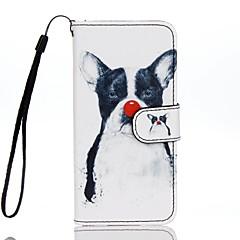Для Бумажник для карт Кошелек со стендом Флип С узором Кейс для Чехол Кейс для С собакой Твердый Искусственная кожа для AppleiPhone 7