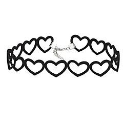 preiswerte Halsketten-Halsketten - Spitze Herz Retro, Euramerican Schwarz Modische Halsketten Schmuck Für Party, Geburtstag, Alltag / Normal
