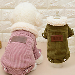 Cat Dog Coat Dog Clothes Casual/Daily Fashion Solid Coffee Pink Costume For Pets